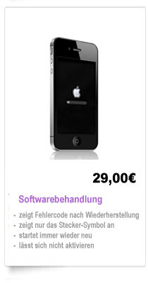 iPhone 4 Softwarebehandlung Reparatur Berlin, Wechsel
